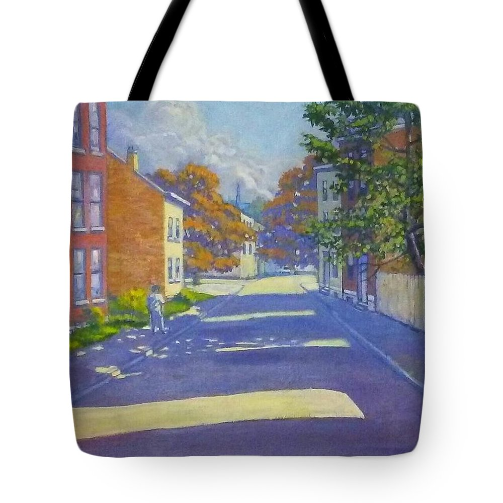 Painting Tote Bag featuring the painting Beautiful Day2 by Jonathan Carter