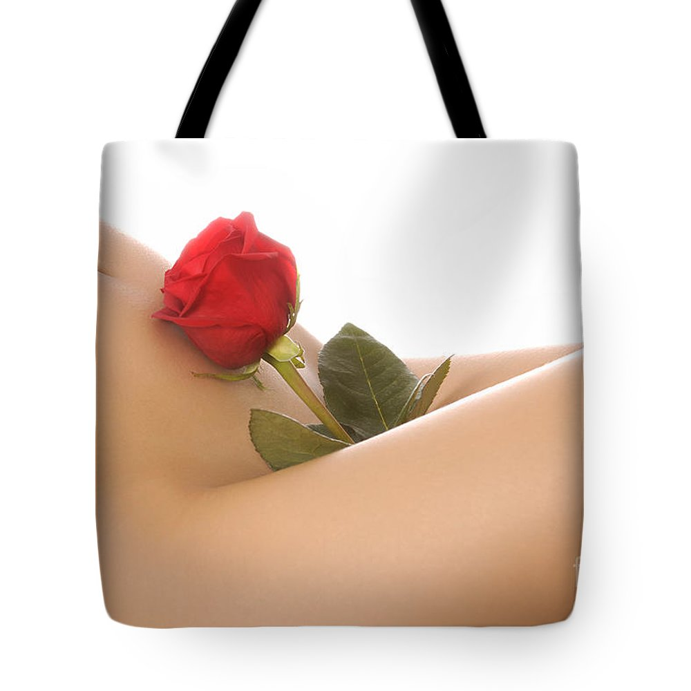 Woman Tote Bag featuring the photograph Beautiful Female Body by Oleksiy Maksymenko