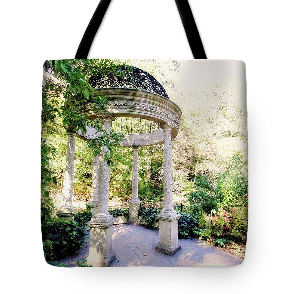 Gazebo Tote Bag featuring the photograph Beautiful Gazebo by Trina Ansel