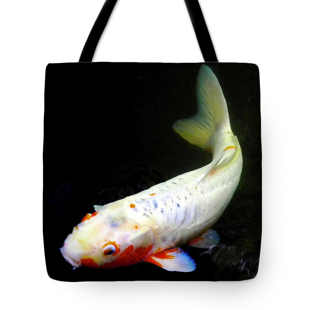 Koi Tote Bag featuring the photograph Beautiful Koi Fish by Kirsten Giving