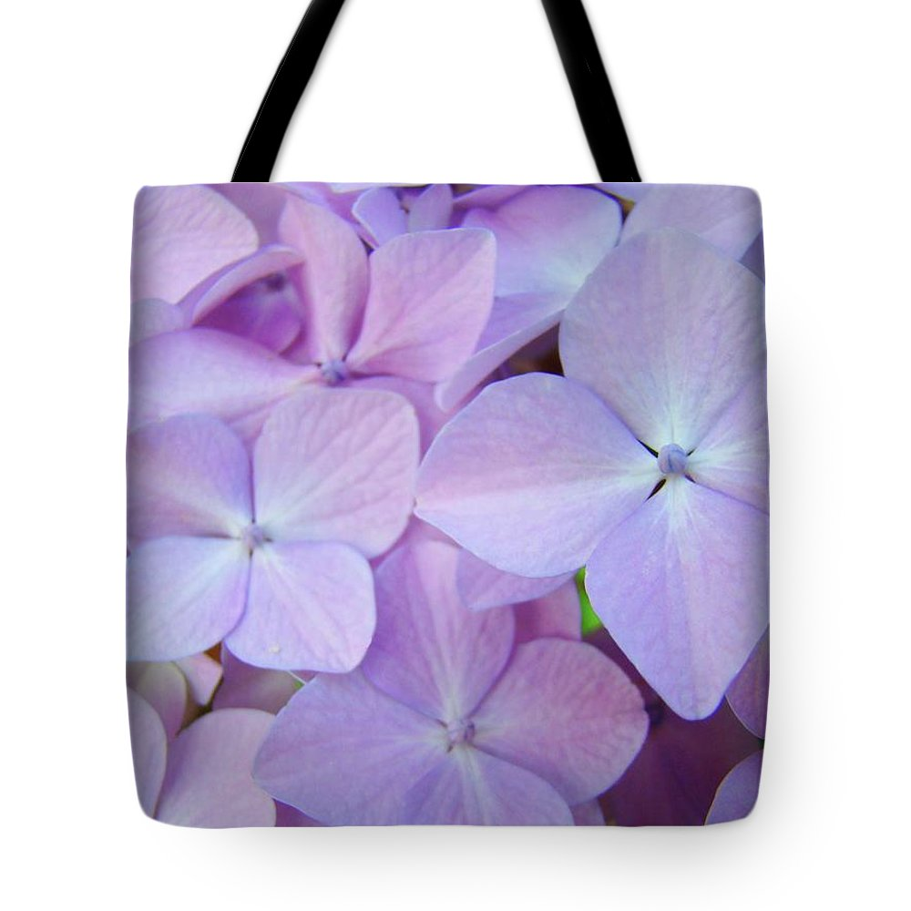 Floral Tote Bag featuring the photograph Beautiful Lavender Purple Hydrangea Flowers Baslee Troutman by Baslee Troutman