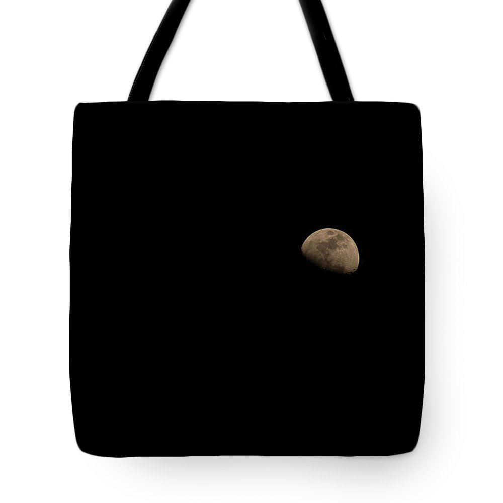 Moon Tote Bag featuring the photograph Beautiful Moon Seen From Mexico by Seb Estrada