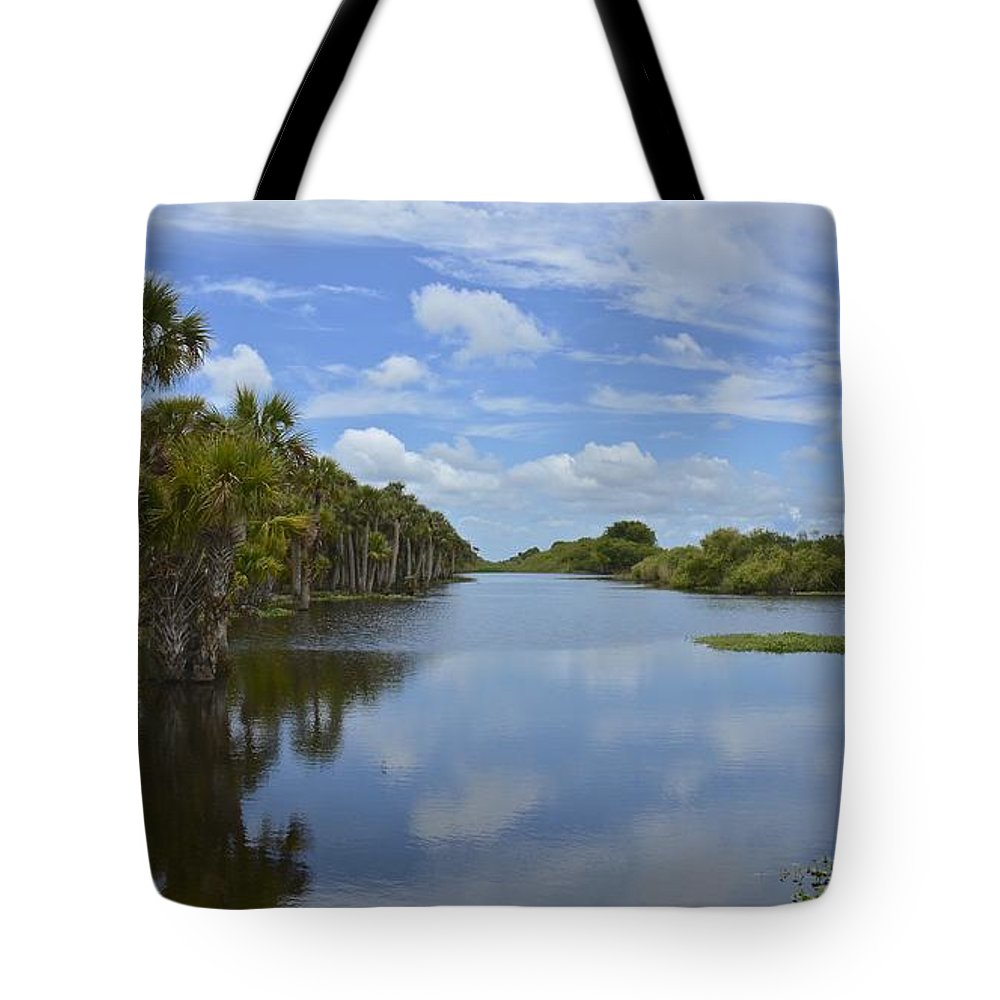 Canal Tote Bag featuring the photograph Beautiful Old Florida by Carol Bradley