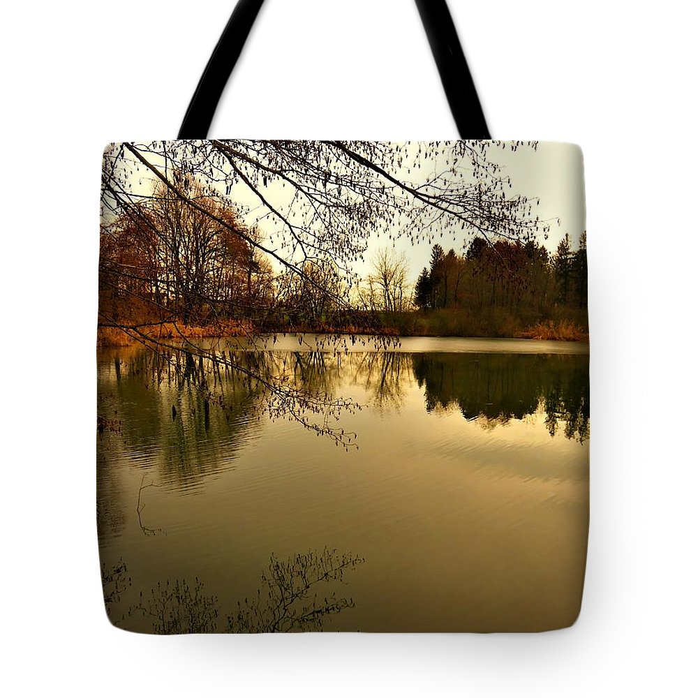Evening Tote Bag featuring the photograph Beautiful Reflection In The Evening Hours by Vida Ficko