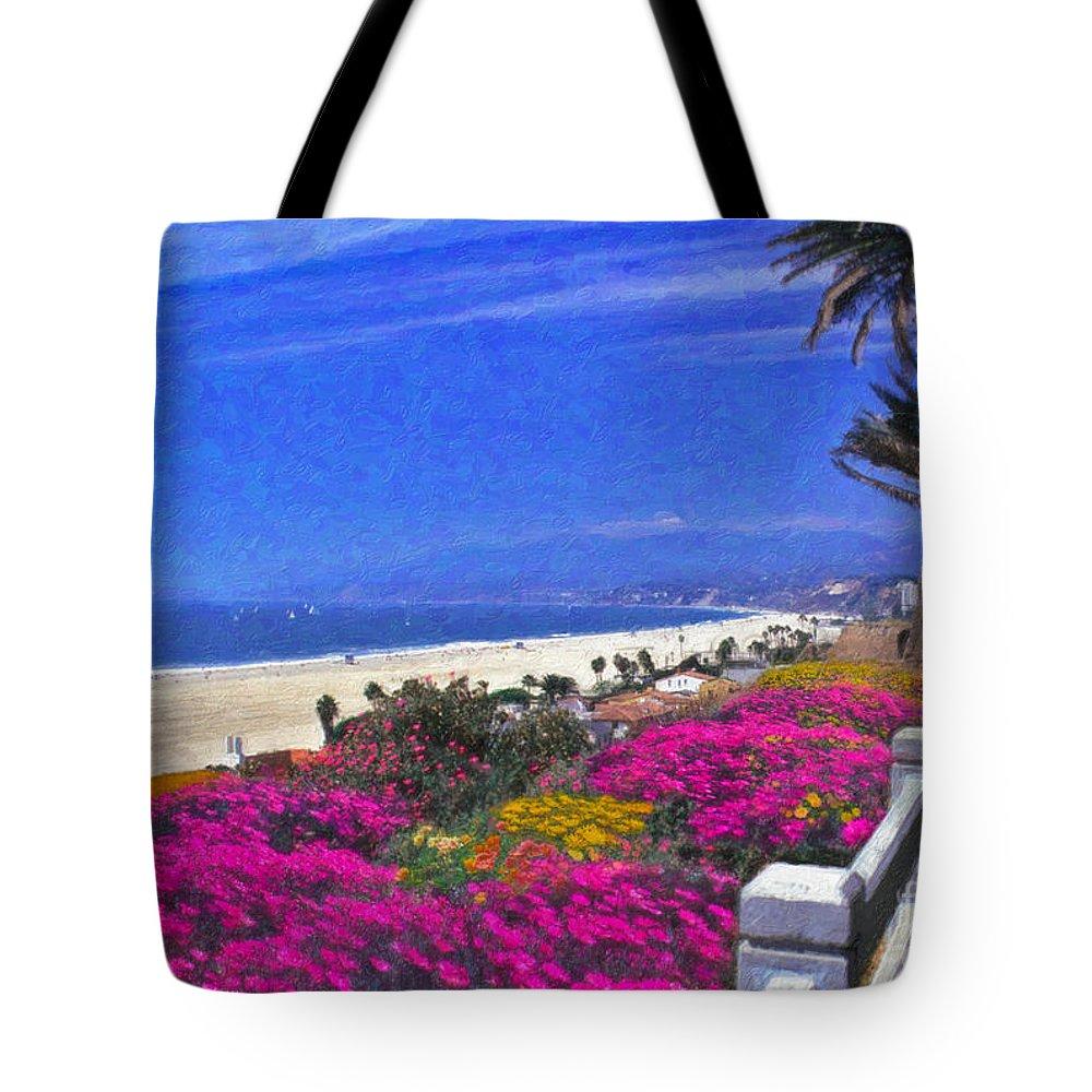Beautiful Santa Monica Ca Palisades Park View Malibu Point Dume Tote Bag featuring the photograph Beautiful Santa Monica Ca by David Zanzinger