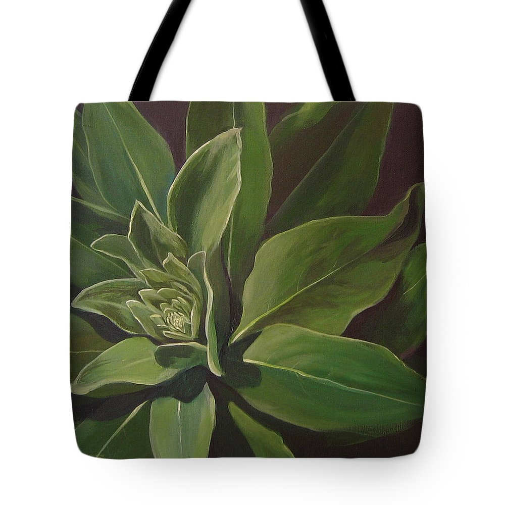 Closeup Of Mullein Plant Tote Bag featuring the painting Beautiful Stranger by Hunter Jay
