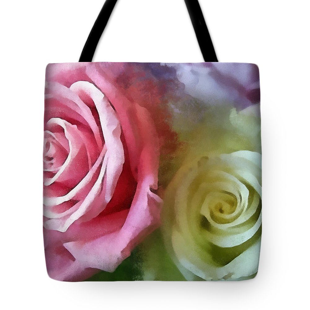 Macro Tote Bag featuring the digital art Beautiful Together by Todd Blanchard