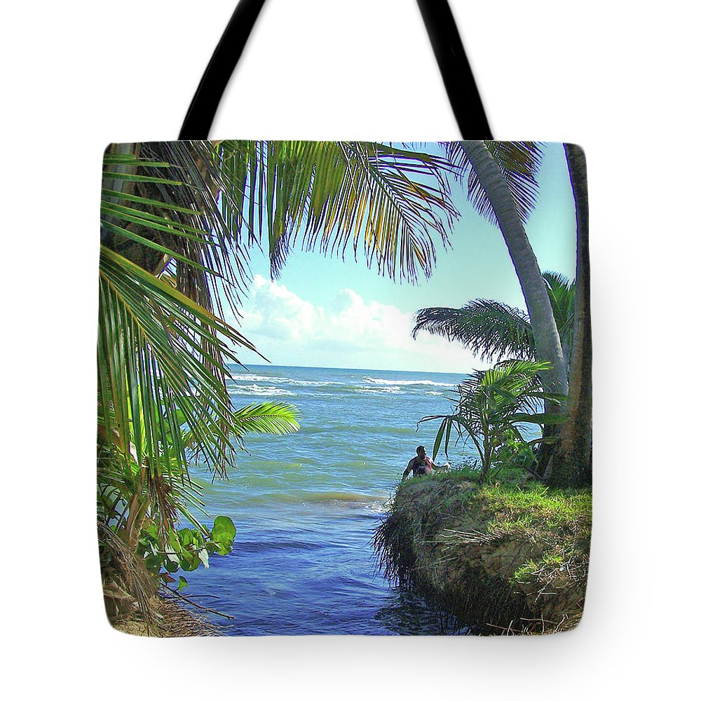 Puerto Rico Tote Bag featuring the photograph Beautiful Waters Of Puerto Rico by Marilyn Holkham