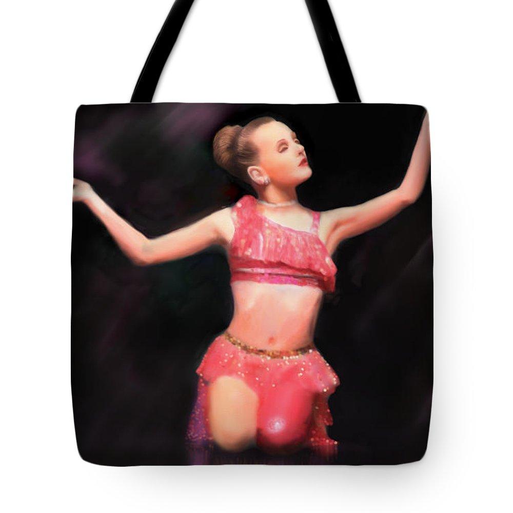 Dancer Tote Bag featuring the digital art Beauty Dances by Ellen Dawson