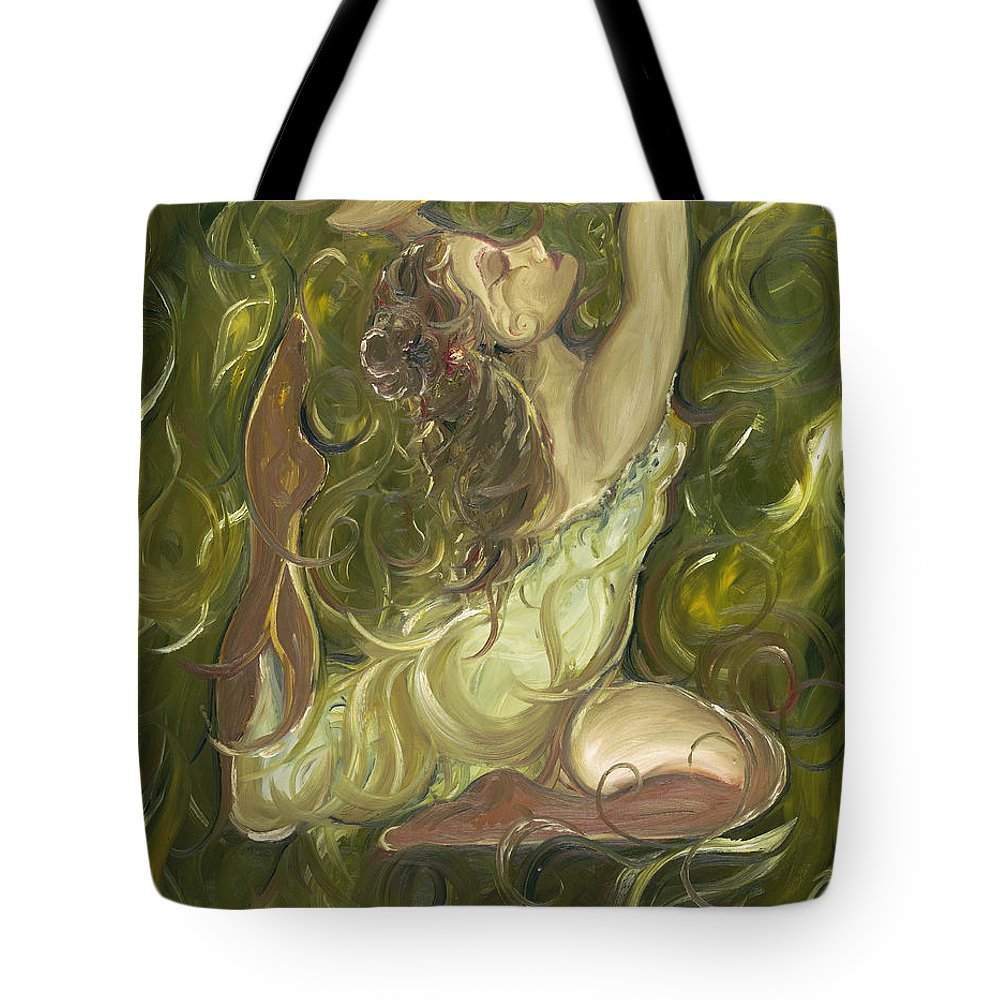 Beauty Tote Bag featuring the painting Beauty Has Surfaced by Stephanie Broker