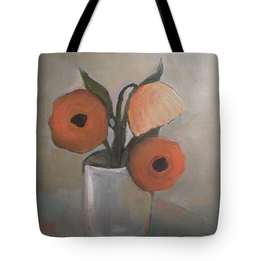 Abstract Tote Bag featuring the painting Beauty In Jar by Vesna Antic