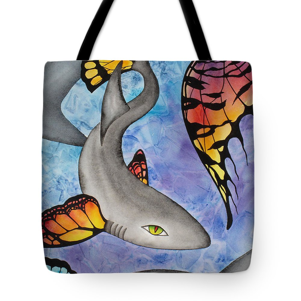Surreal Tote Bag featuring the painting Beauty In The Beasts by Lucy Arnold