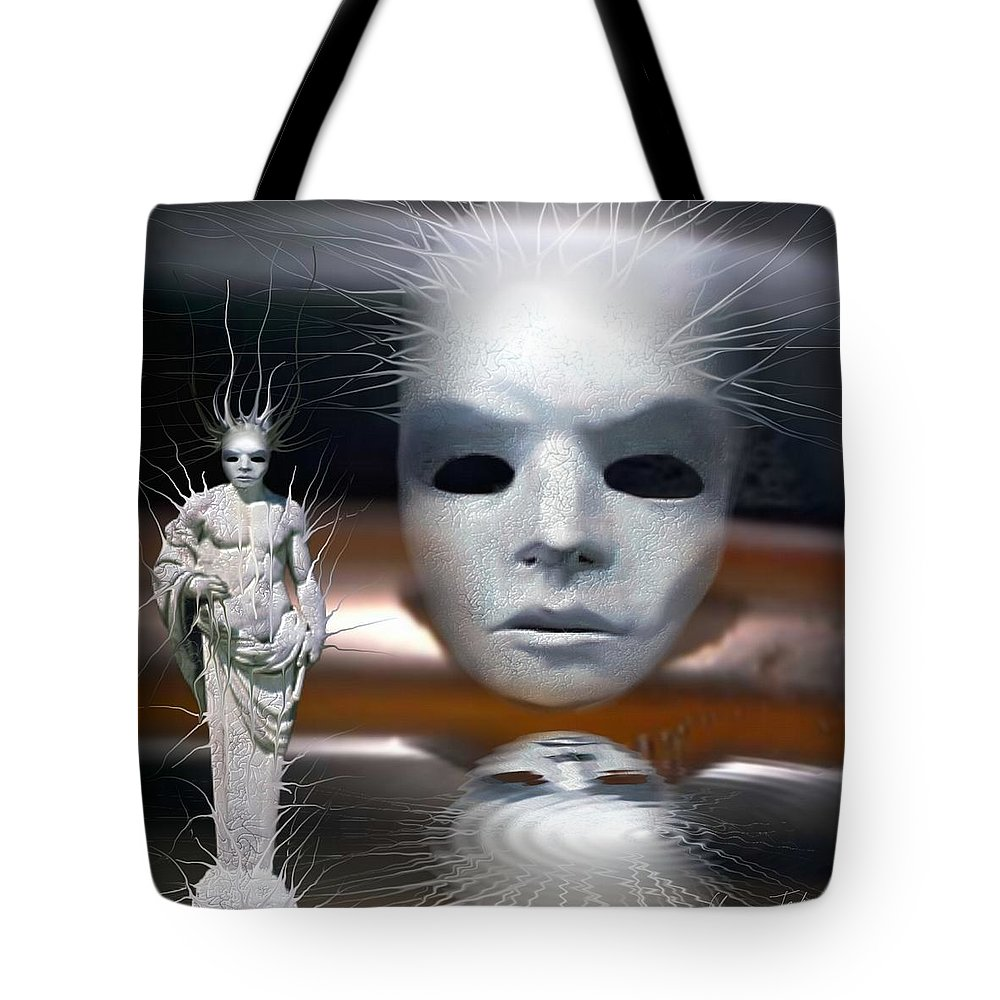 Digital Beauty Eyes Water Tote Bag featuring the digital art Beauty Is Invisible To The Eye. by Veronica Jackson