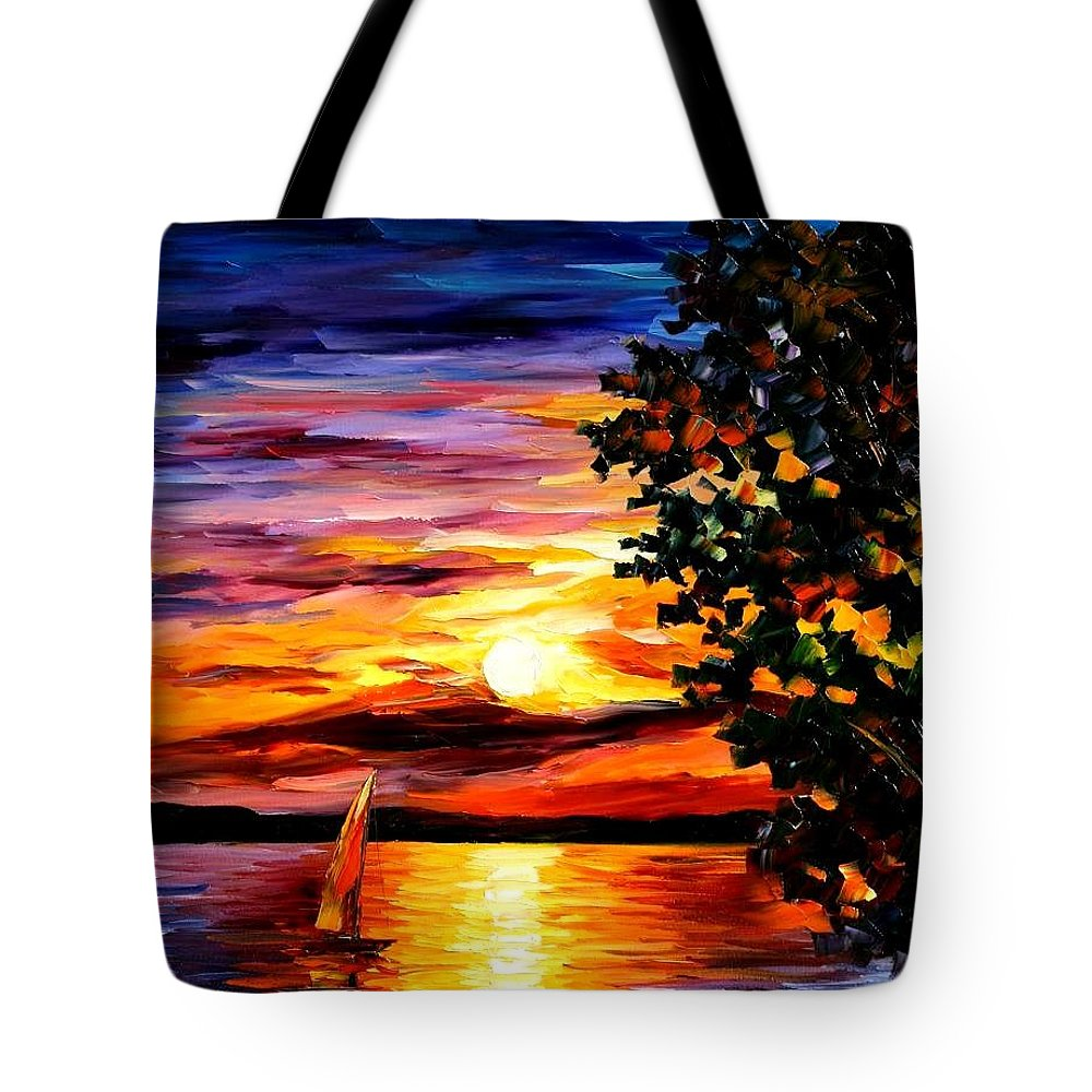 Afremov Tote Bag featuring the painting Beauty Of Night by Leonid Afremov