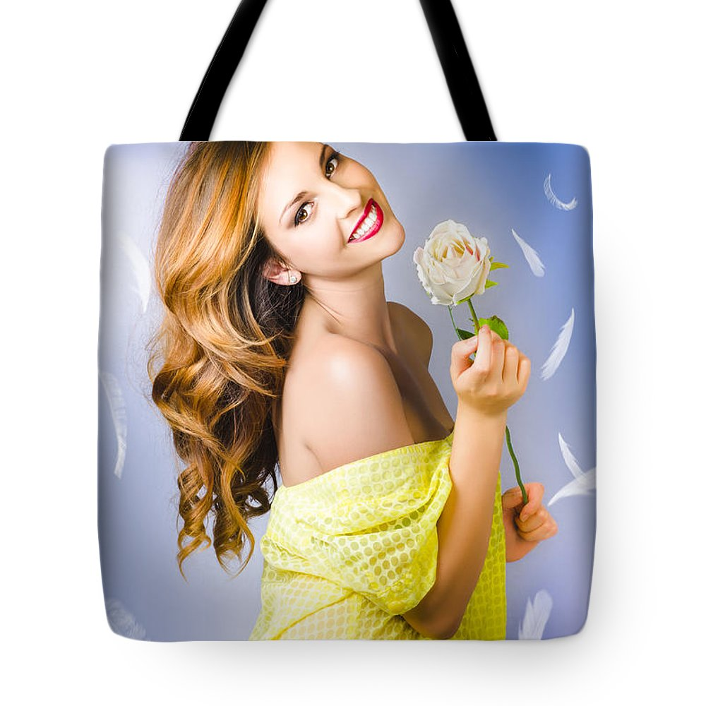 Adult Tote Bag featuring the photograph Beauty Of Romance Floating In The Summer Breeze by Jorgo Photography - Wall Art Gallery