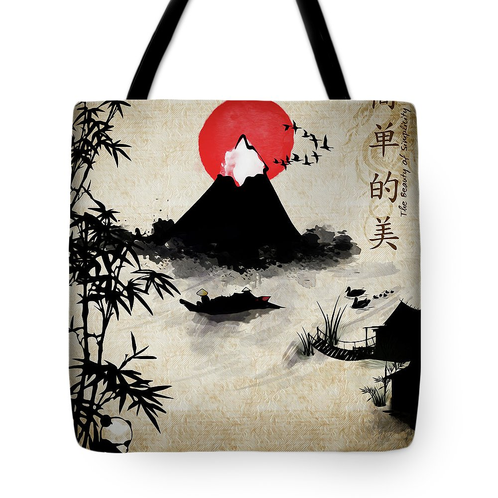 Simple Tote Bag featuring the digital art Beauty Of Simplicity by Photo Design AJ