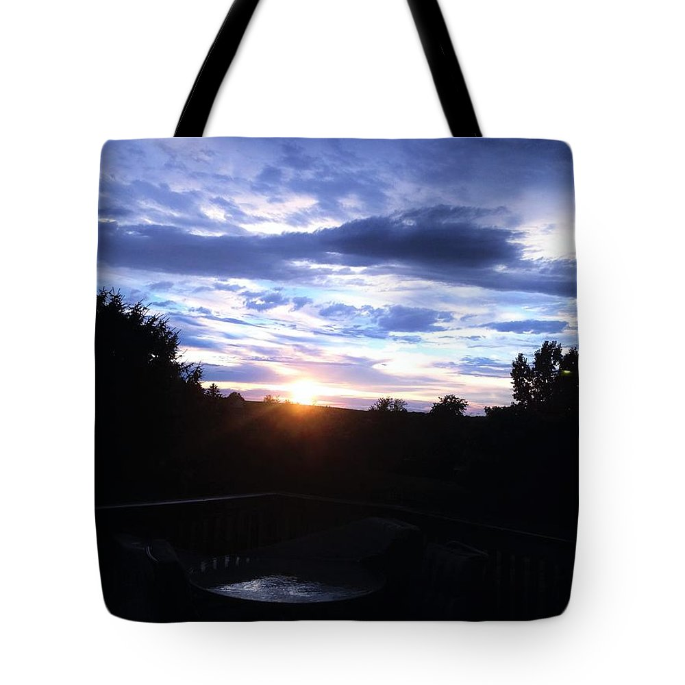 Photography Tote Bag featuring the photograph Somewhere The Sun Is Shining by Debra Lynch