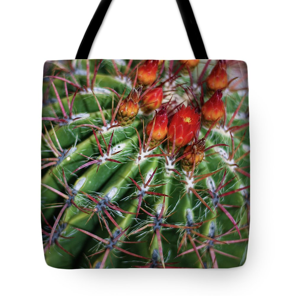 Blooming Tote Bag featuring the photograph Beauty's Protections by Martina Schneeberg-Chrisien
