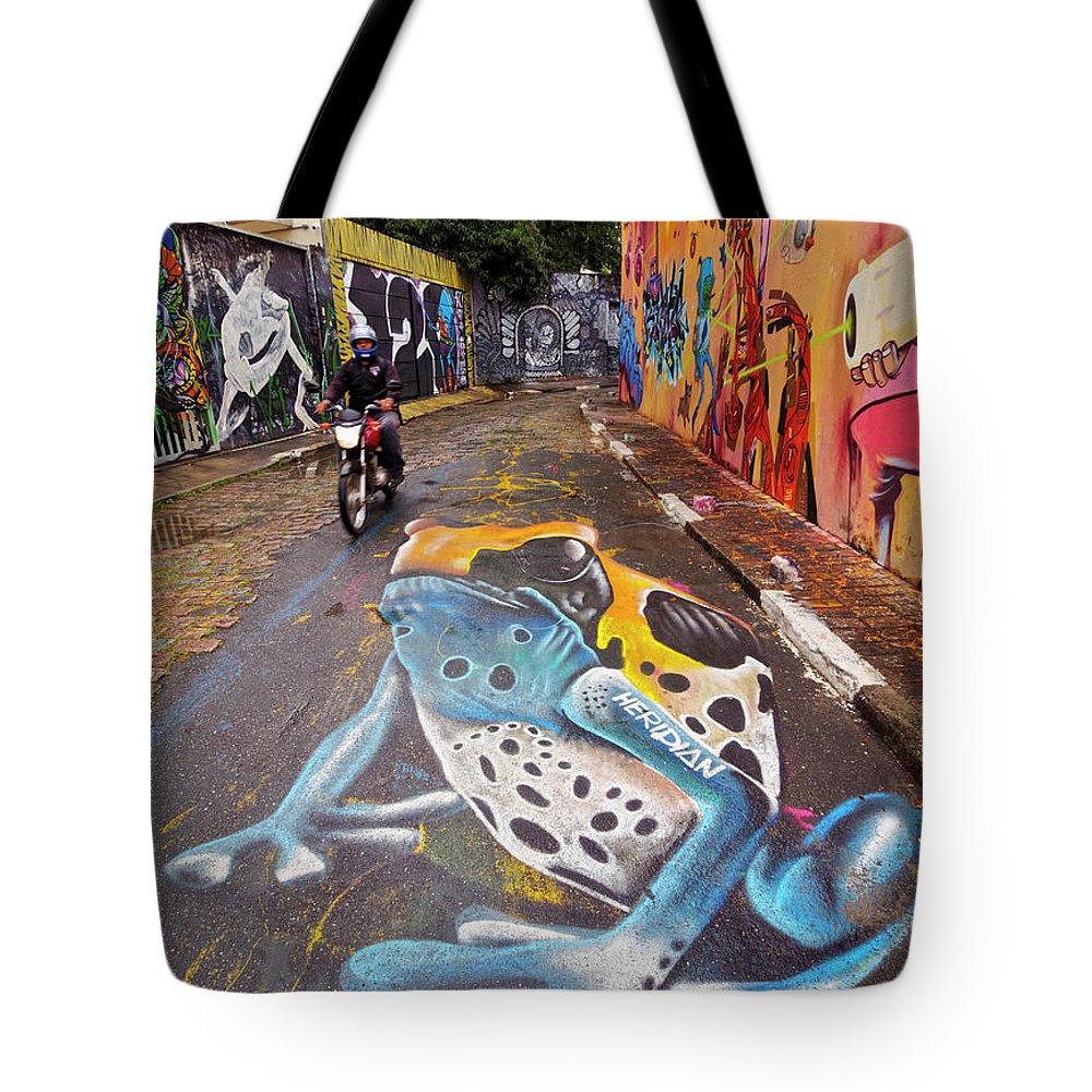 South America Tote Bag featuring the photograph Beco Do Batman, Sao Paulo, Brazil by Karol Kozlowski
