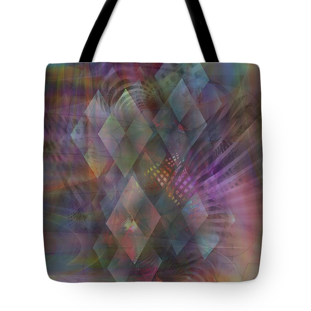 Bedazzled Tote Bag featuring the digital art Bedazzled by John Beck