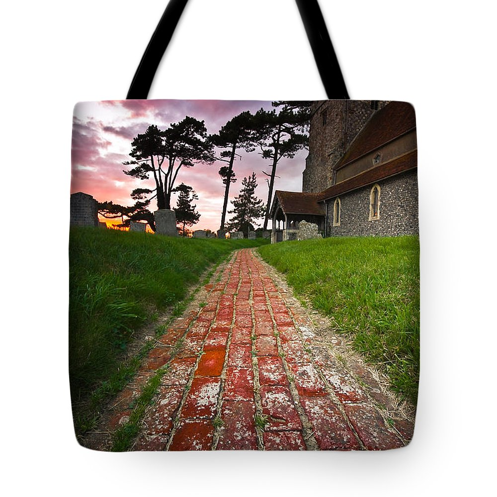 Beddingham Chruch Tote Bag featuring the photograph Beddingham Chruch by Will Gudgeon