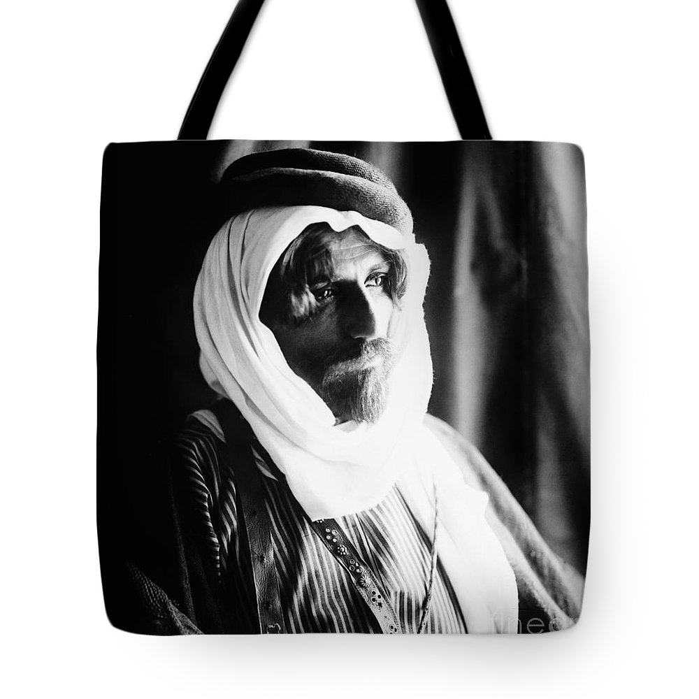 1910 Tote Bag featuring the photograph Bedouin Man, C1910 by Granger