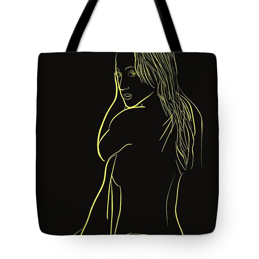 Tote Bag featuring the painting Bedside by Jack Bunds