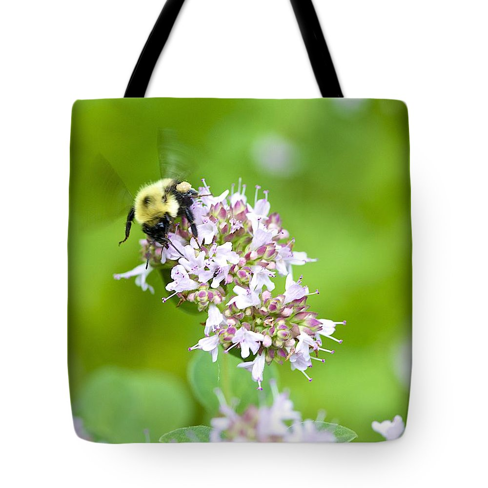 Bee Tote Bag featuring the photograph Bee Wings by Robert Skuja