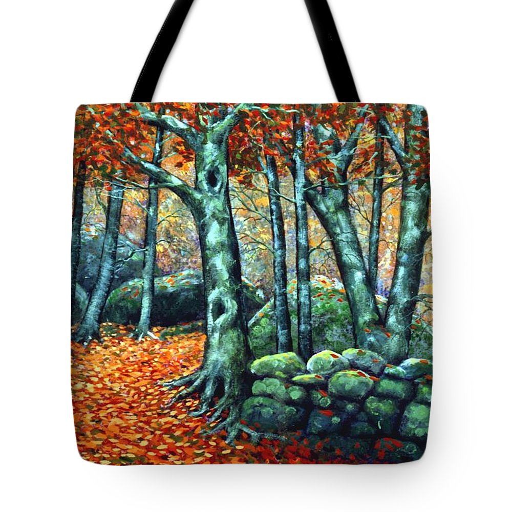Landscape Tote Bag featuring the painting Beech Woods by Frank Wilson