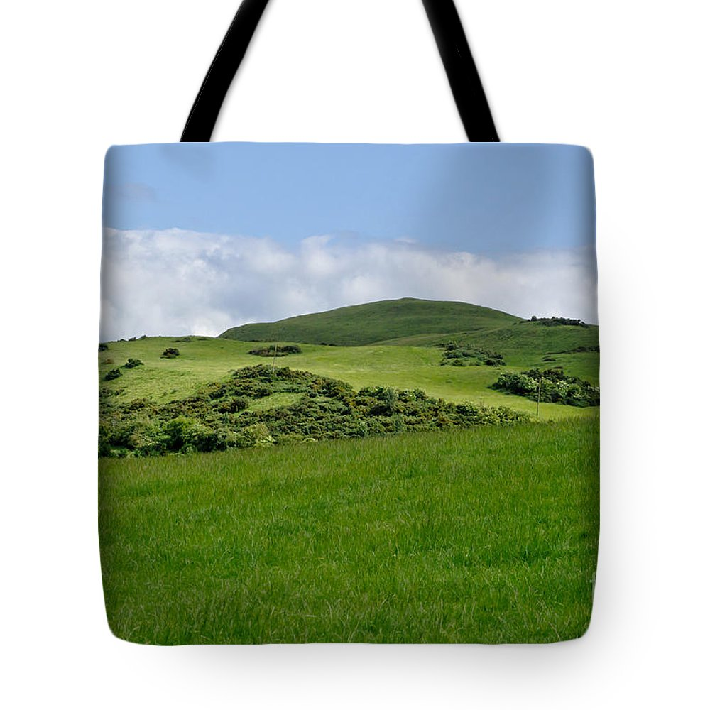 Beecraigs Tote Bag featuring the photograph Beecraigs Hills. by Elena Perelman