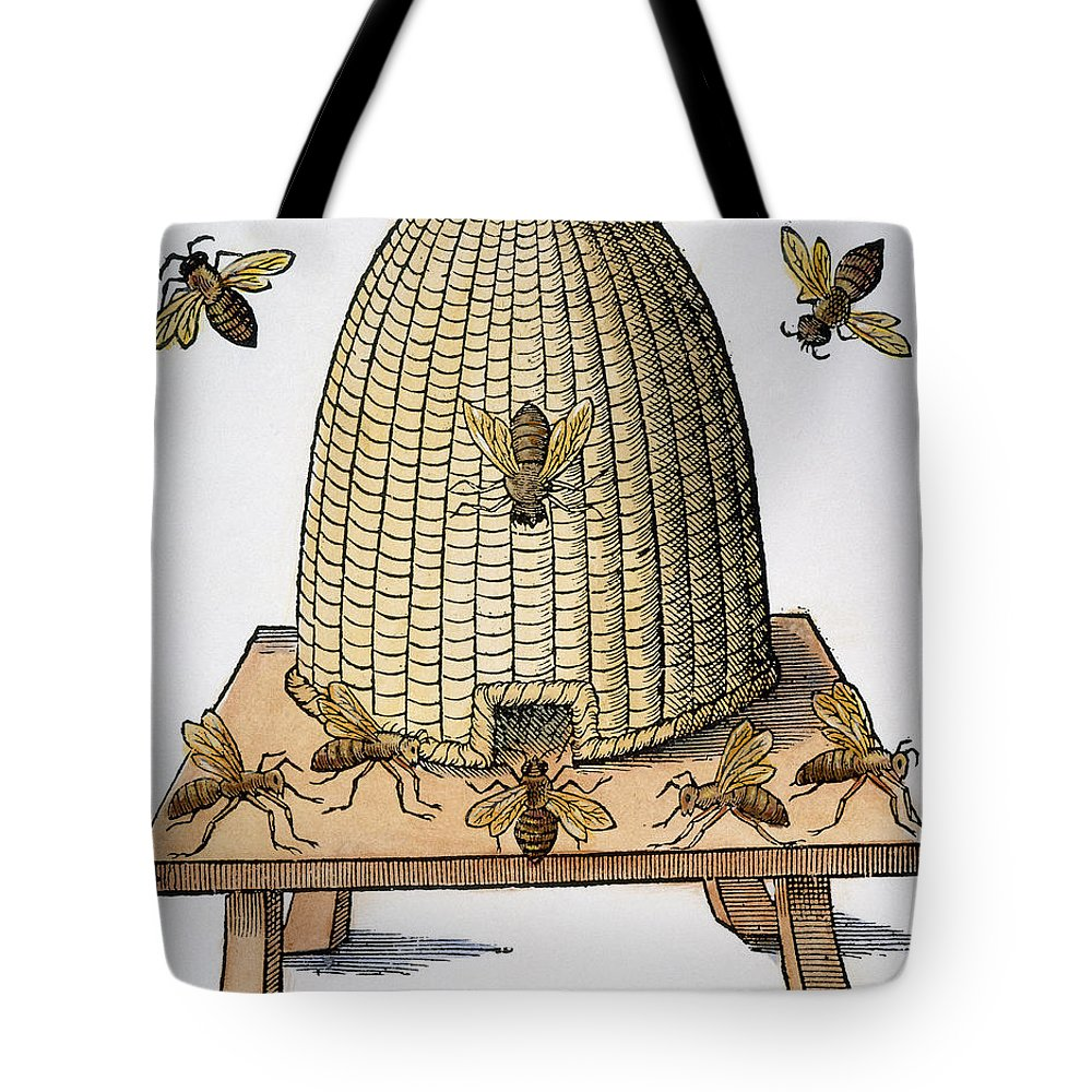 1658 Tote Bag featuring the photograph Beehive, 1658 by Granger