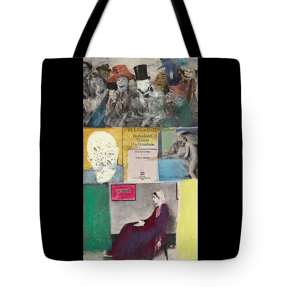 Gurdjieff Tote Bag featuring the mixed media Beelzebub by Joe Michelli