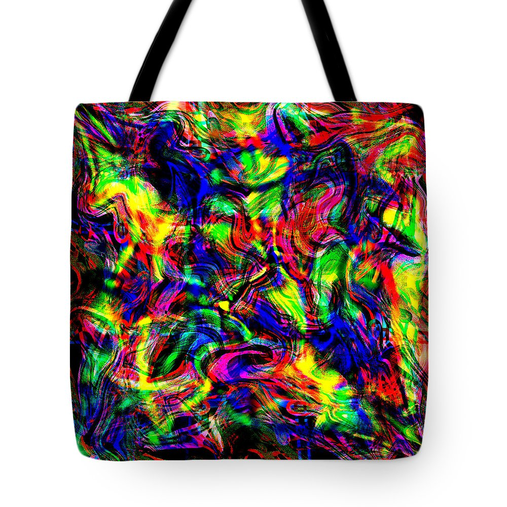 Abstract Tote Bag featuring the digital art Beenee by Blind Ape Art