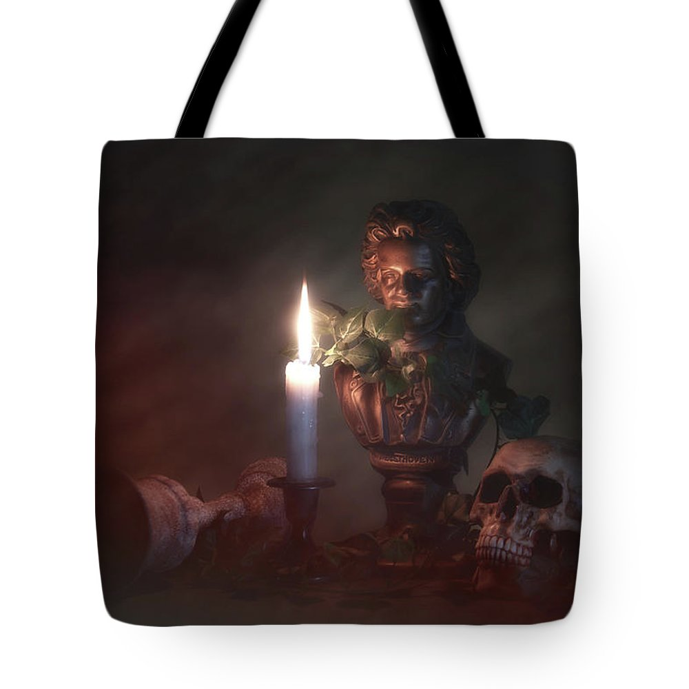 Art Tote Bag featuring the photograph Beethoven By Candlelight by Tom Mc Nemar