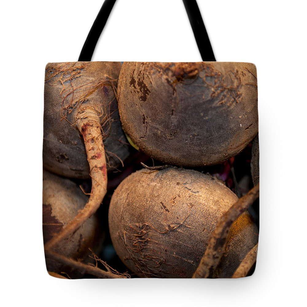Kitchen Art Tote Bag featuring the photograph Beets Me by Paulette B Wright