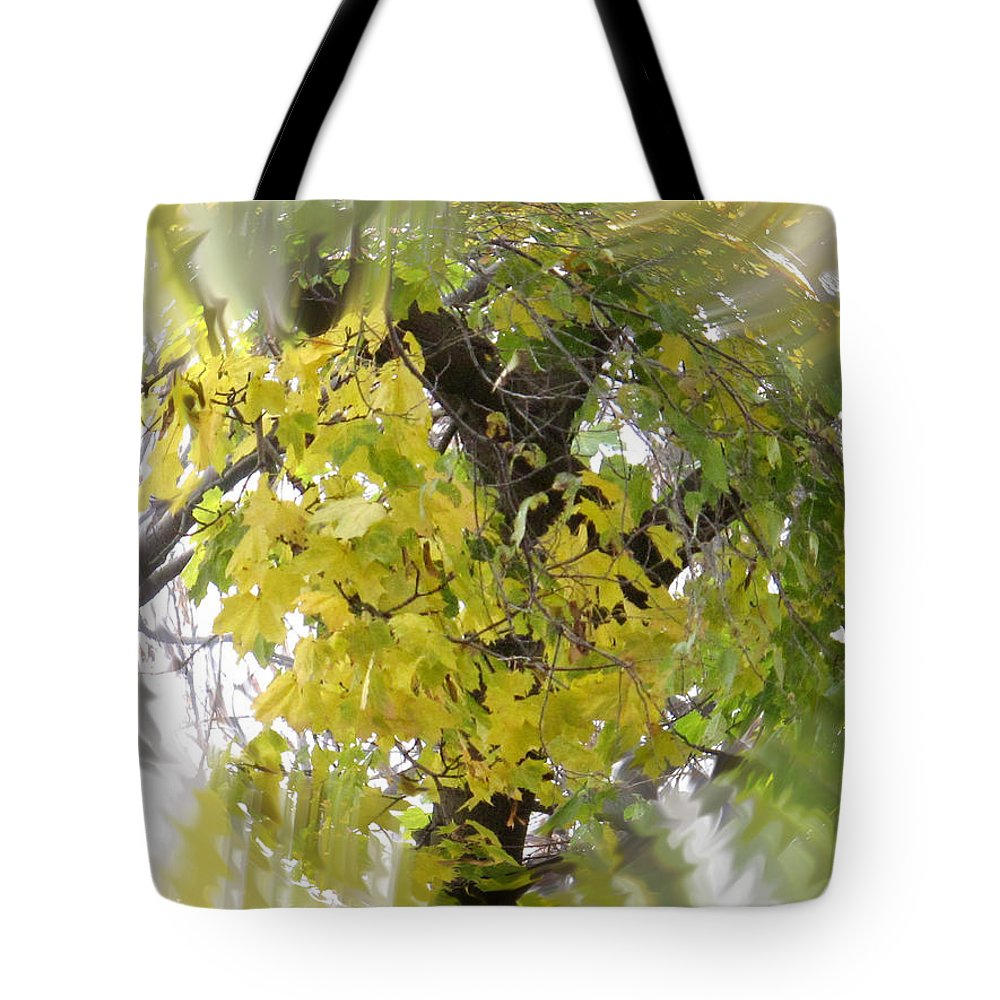 Abstract Tote Bag featuring the photograph Before All The Leaves Fell by Ian MacDonald