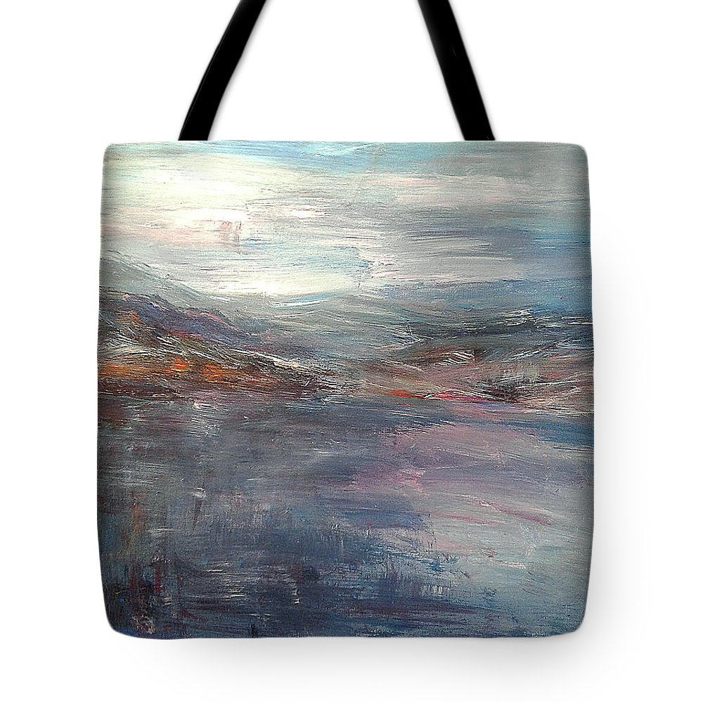 Mountain Tote Bag featuring the painting Before The Mountains Were Born by Andrea De Carlo