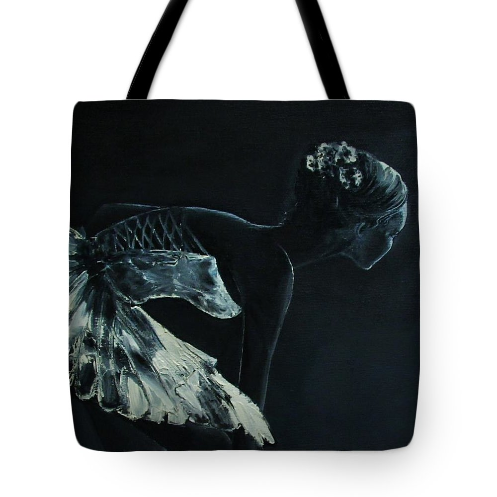 Dancer Tote Bag featuring the painting Before The Scene by Nataliia Fialko