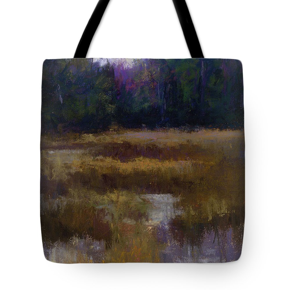 Landscapes Tote Bag featuring the pastel Before The Snow by Susan Williamson