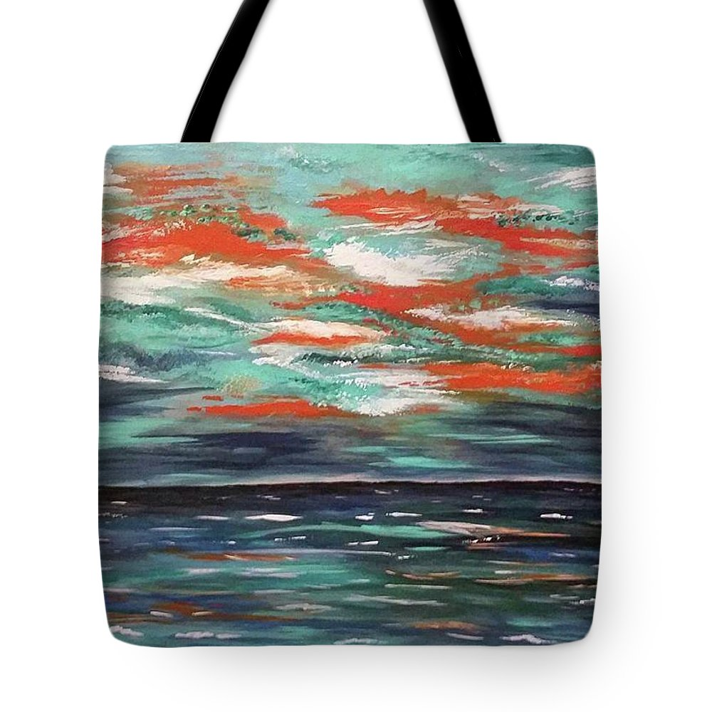 Art Tote Bag featuring the painting Before The Storm by Amber Tattersall