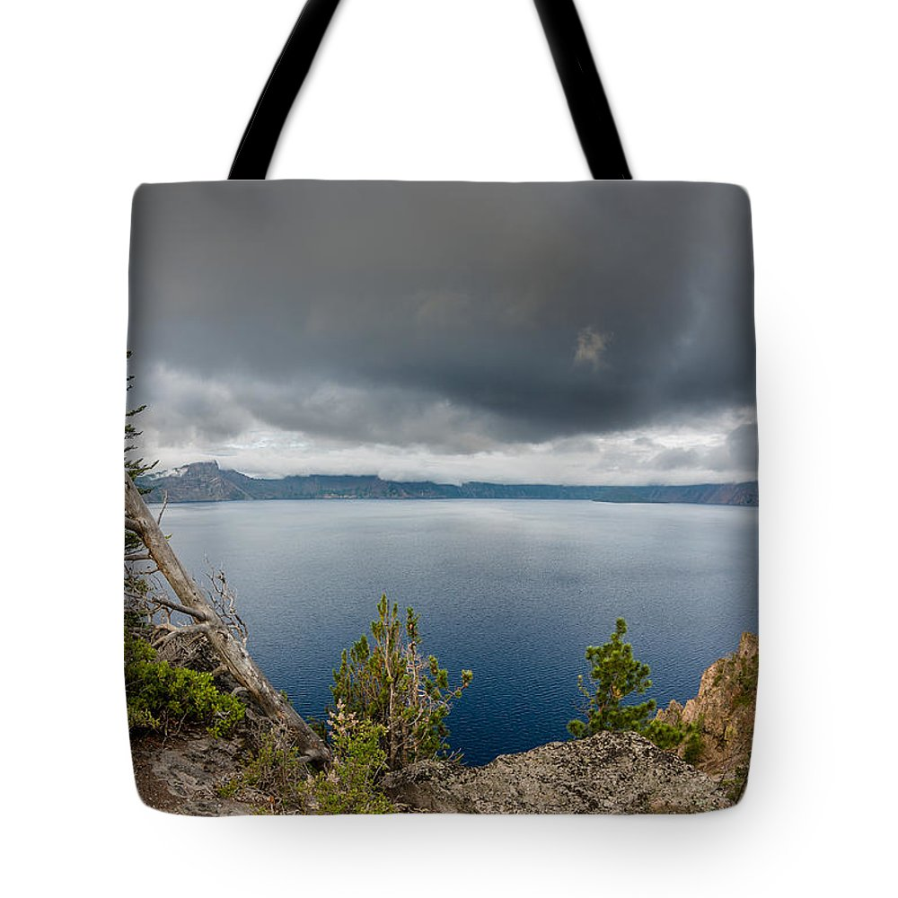 Crater Lake Tote Bag featuring the photograph Before The Storm by Greg Nyquist