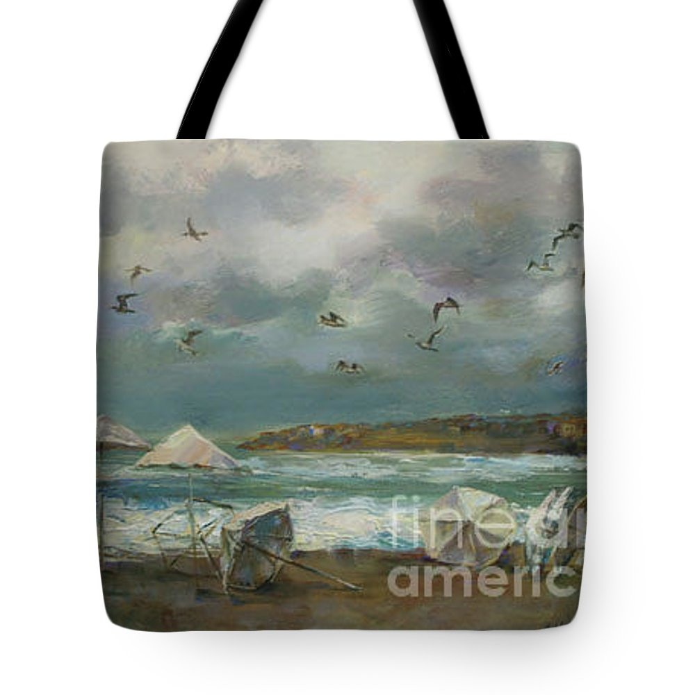 Storm Tote Bag featuring the painting Before The Storm by Angelina Nedin