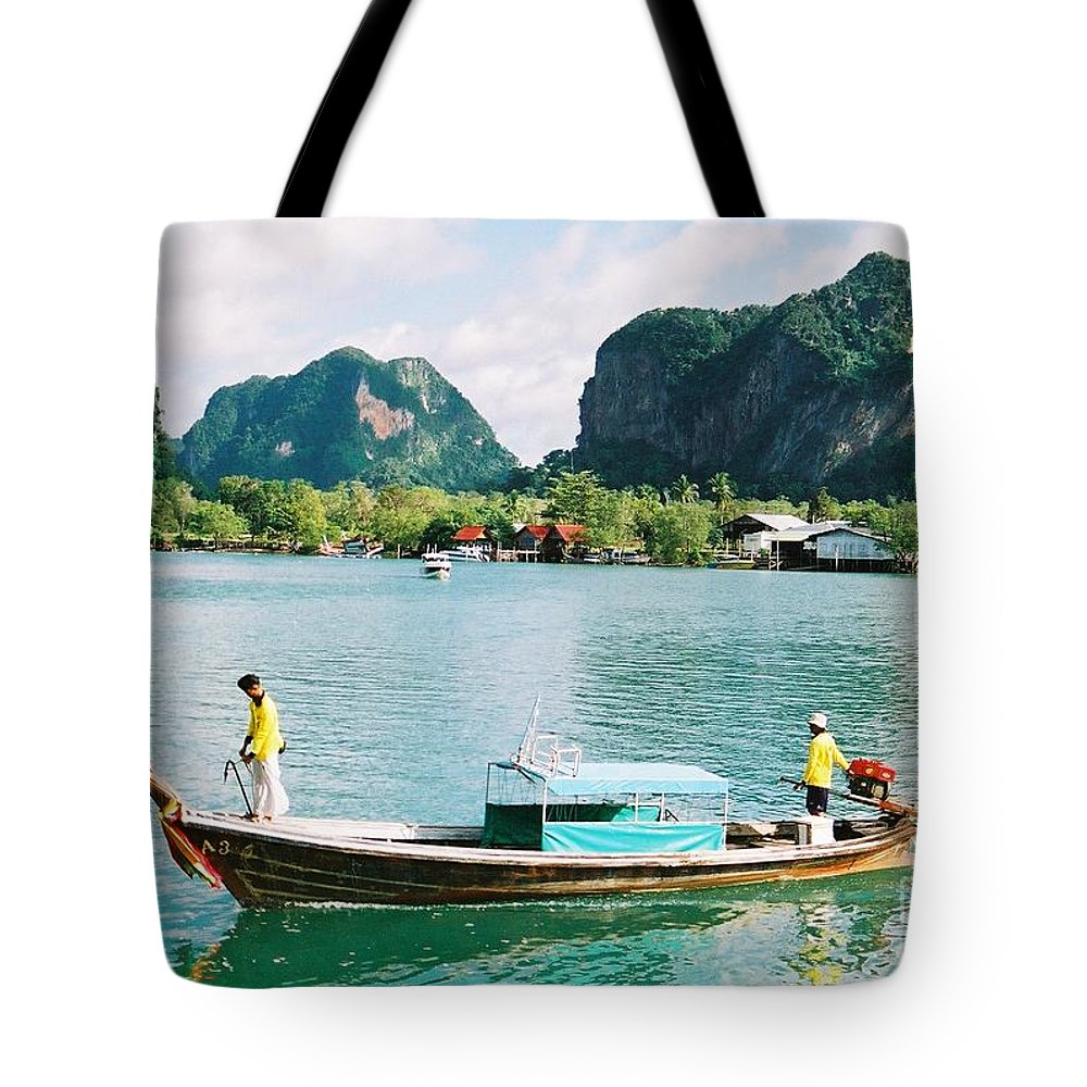 Boats Tote Bag featuring the photograph Before The Tsunami by Mary Rogers