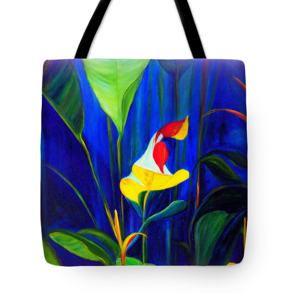 Hawaiian Tote Bag featuring the painting Beginnings by Dina Holland
