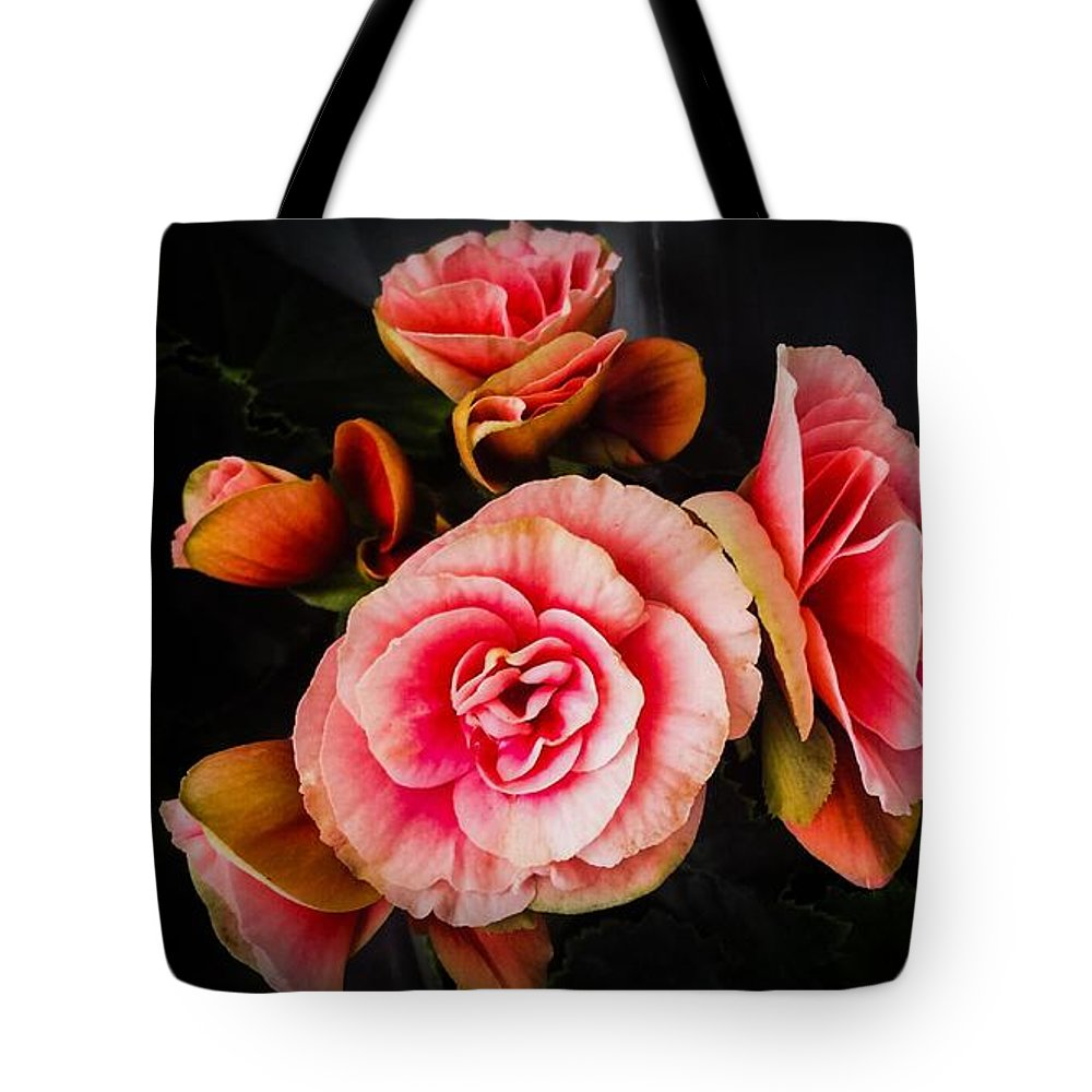 Pink Tote Bag featuring the photograph Begonia In Pink by Jennifer Kohler