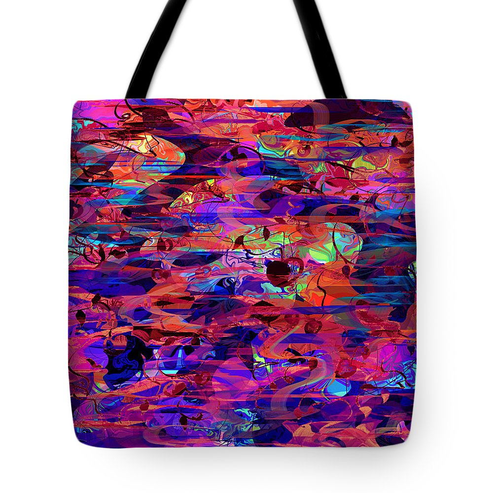 Abstract Tote Bag featuring the digital art Beguiled by Rachel Christine Nowicki