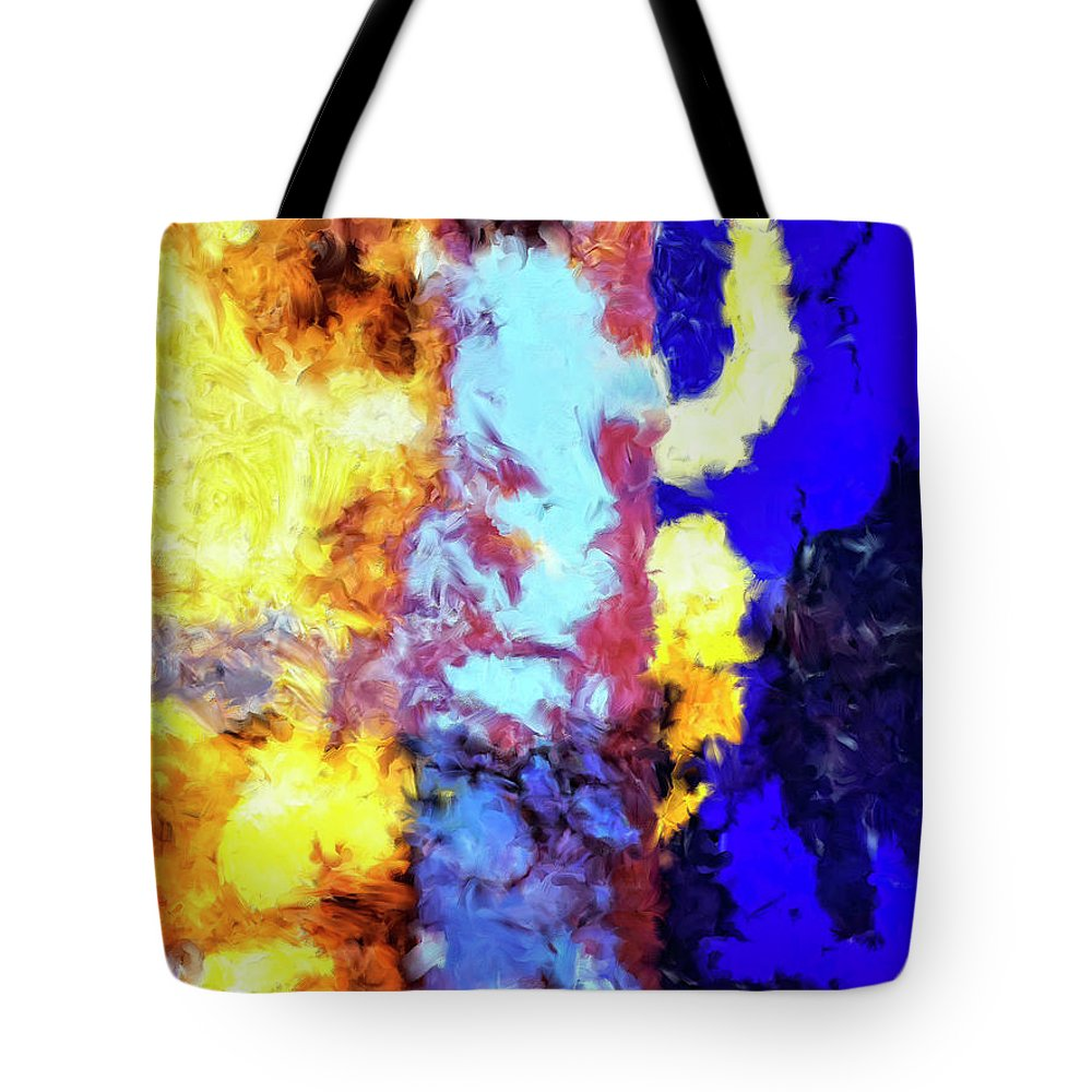 Abstract Tote Bag featuring the painting Behind The Curtain 2 by Dominic Piperata
