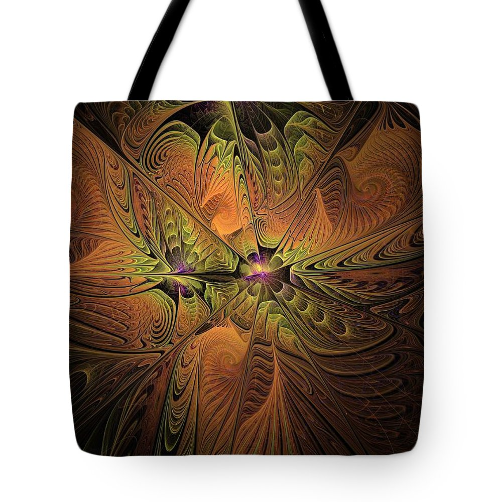 Fractal Tote Bag featuring the digital art Behold A Universe - Fractal Art by NirvanaBlues