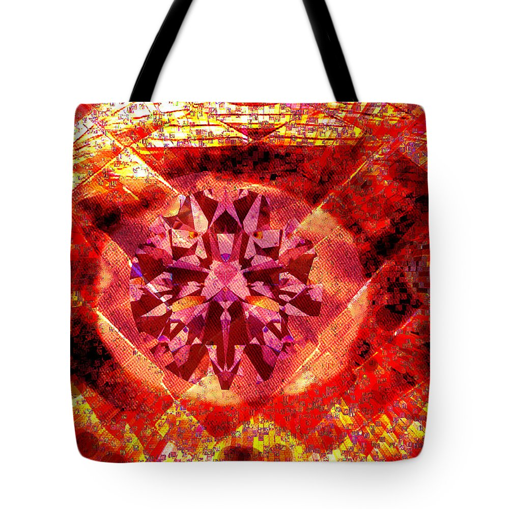 Abstract Tote Bag featuring the photograph Behold The Jeweled Eye Of Blood by Seth Weaver