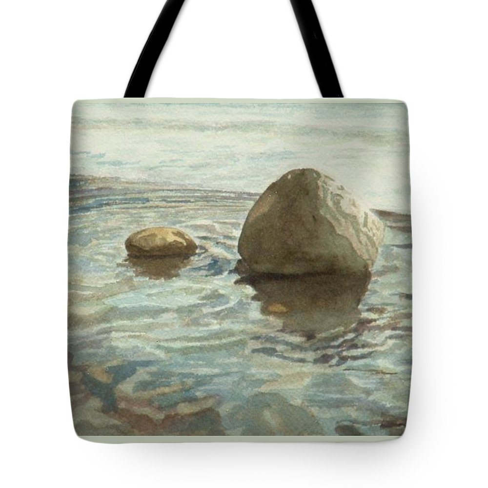 Watercolor Tote Bag featuring the painting Being  Waiting Watching Slowly Metamorphizing by Lynn ACourt